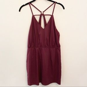 Tobi Burgundy Strappy Dress Size M